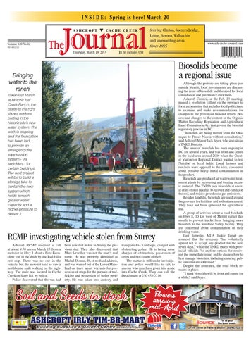 Ashcroft Cache Creek Journal, March 19, 2015 by Black Press Media