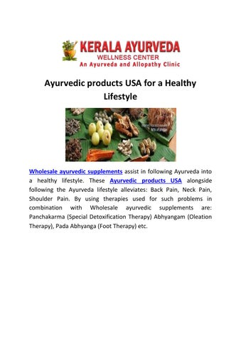 Ayurvedic products USA For A Healthy Lifestyle  by pashanjel - issuu