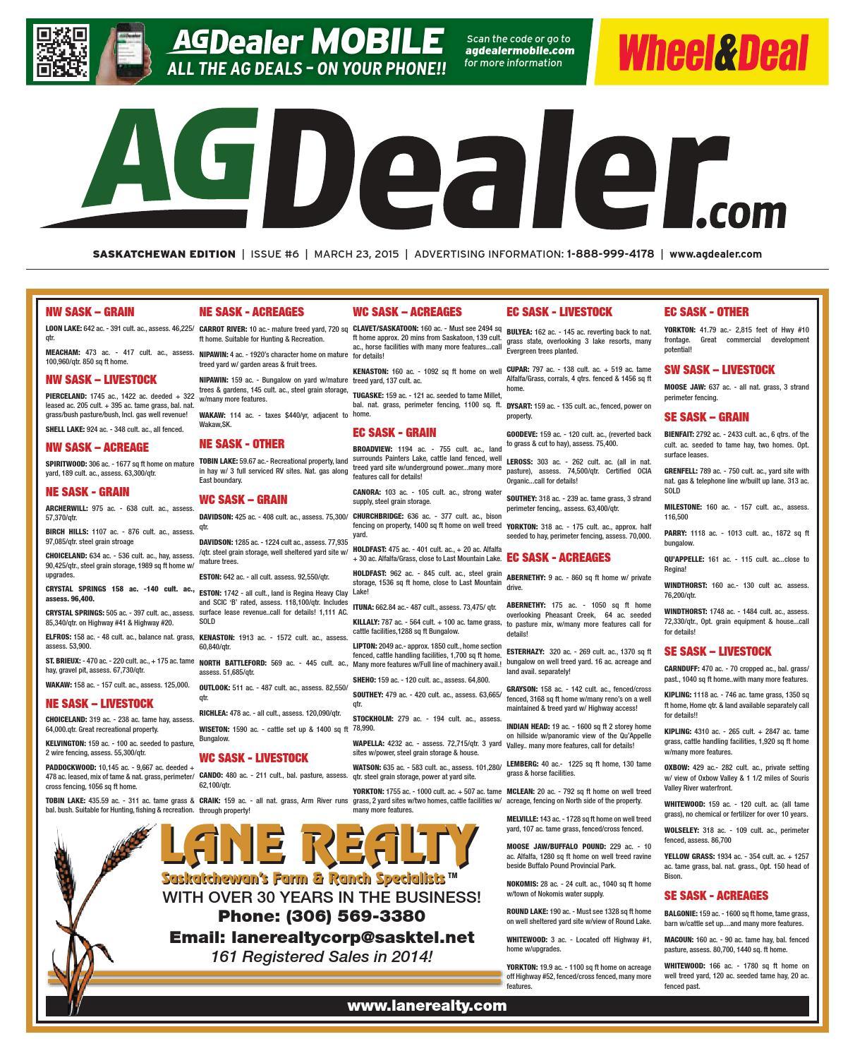 Wheel Amp Deal Saskatchewan March 23 2015 By Farm Business Stiga Comfort 16 2010 Parts Diagram Engine Briggs Stratton Communications Issuu