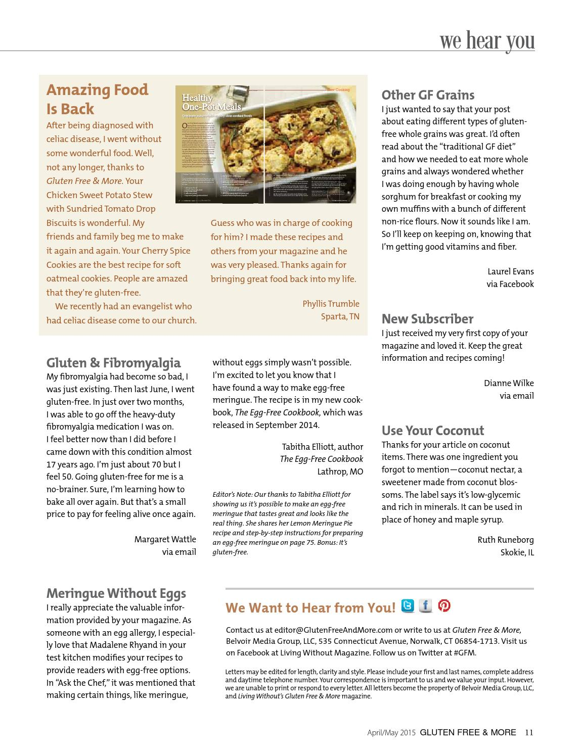 Gluten Free & More April/May 2015 Preview by Gluten Free & More - issuu