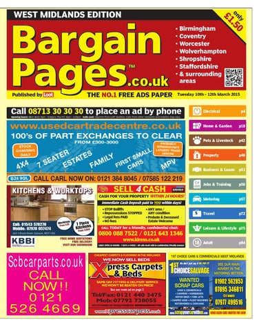 f394df82cb Bargain Pages West Midlands 10th March 2015 by Loot - issuu