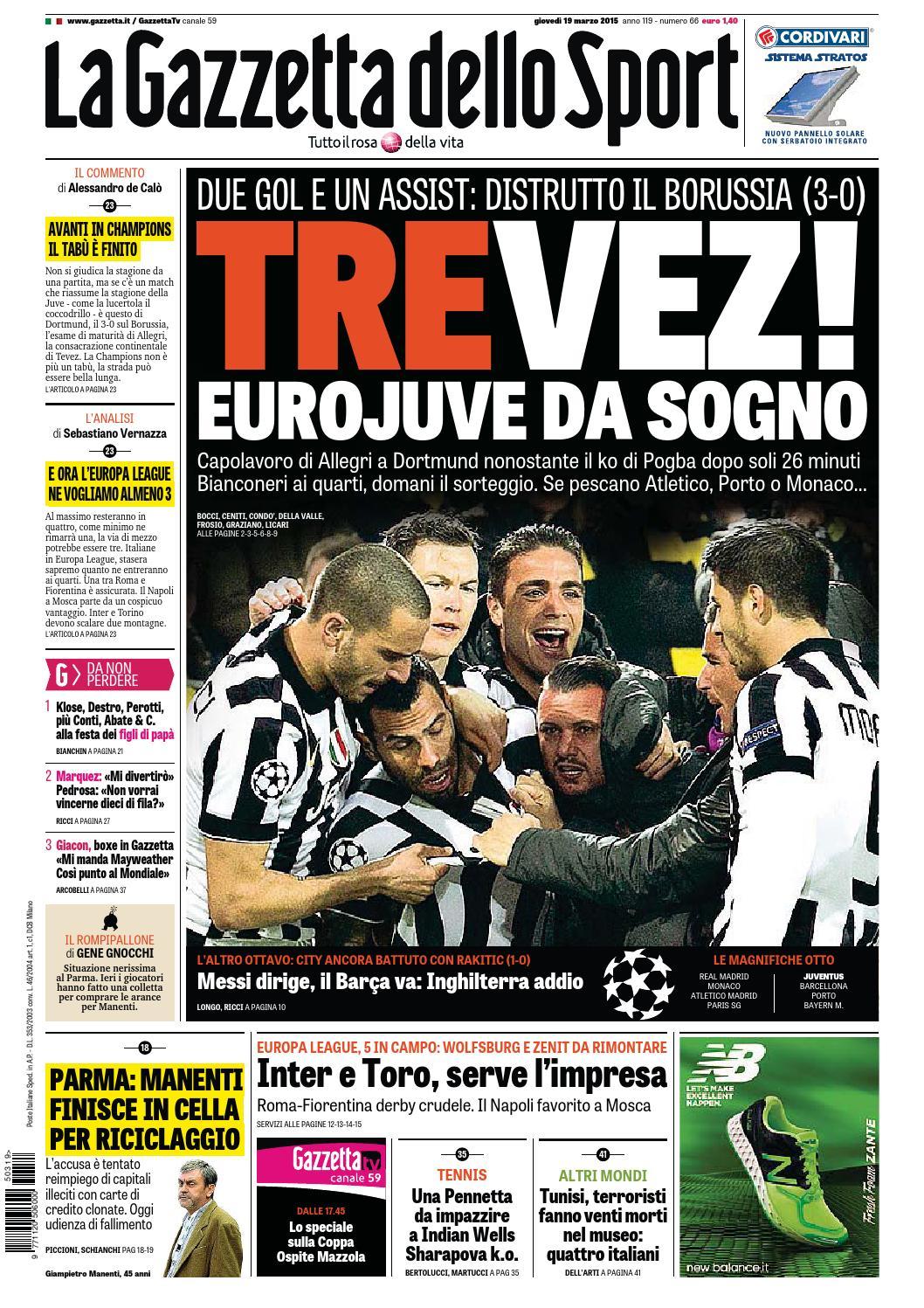 La Gazzetta dello Sport (03-19-2015) by Nguyen Duc Thinh - issuu a29e4cbe87bb
