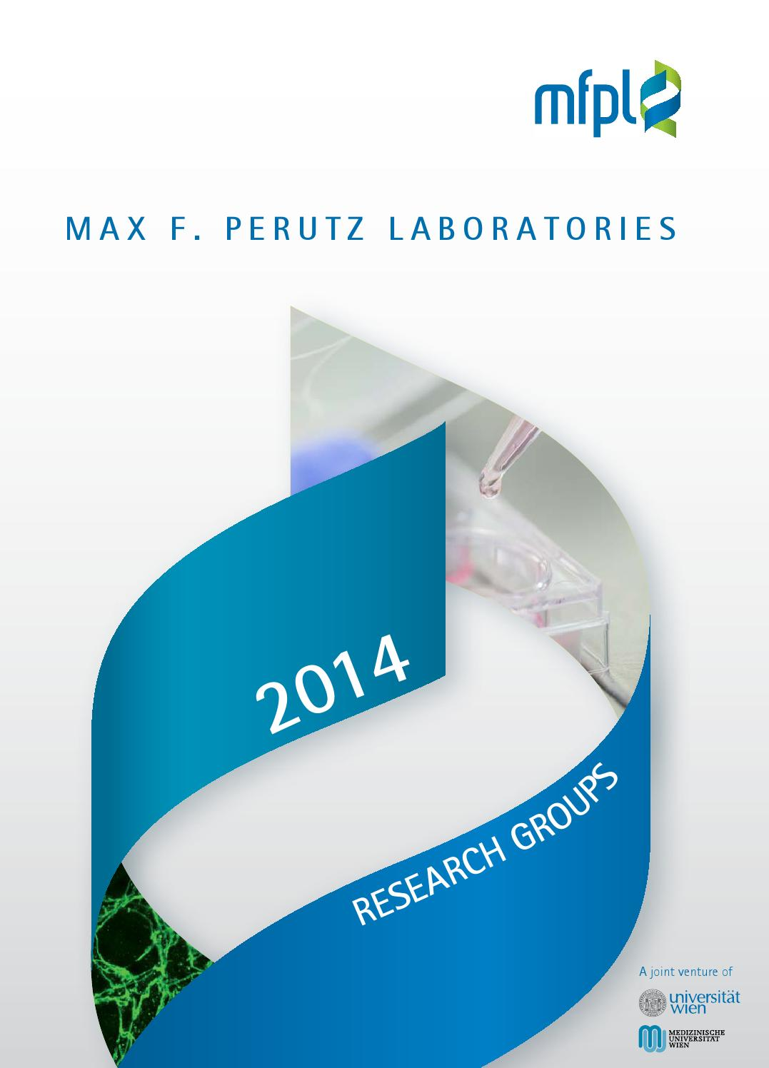 MFPL Research Groups 2014 by Max F  Perutz Laboratories - issuu