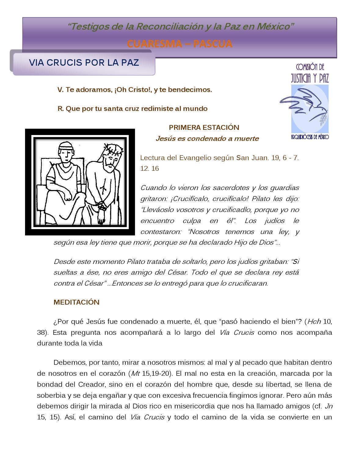 Via crucis por la paz by jguerrerot - issuu