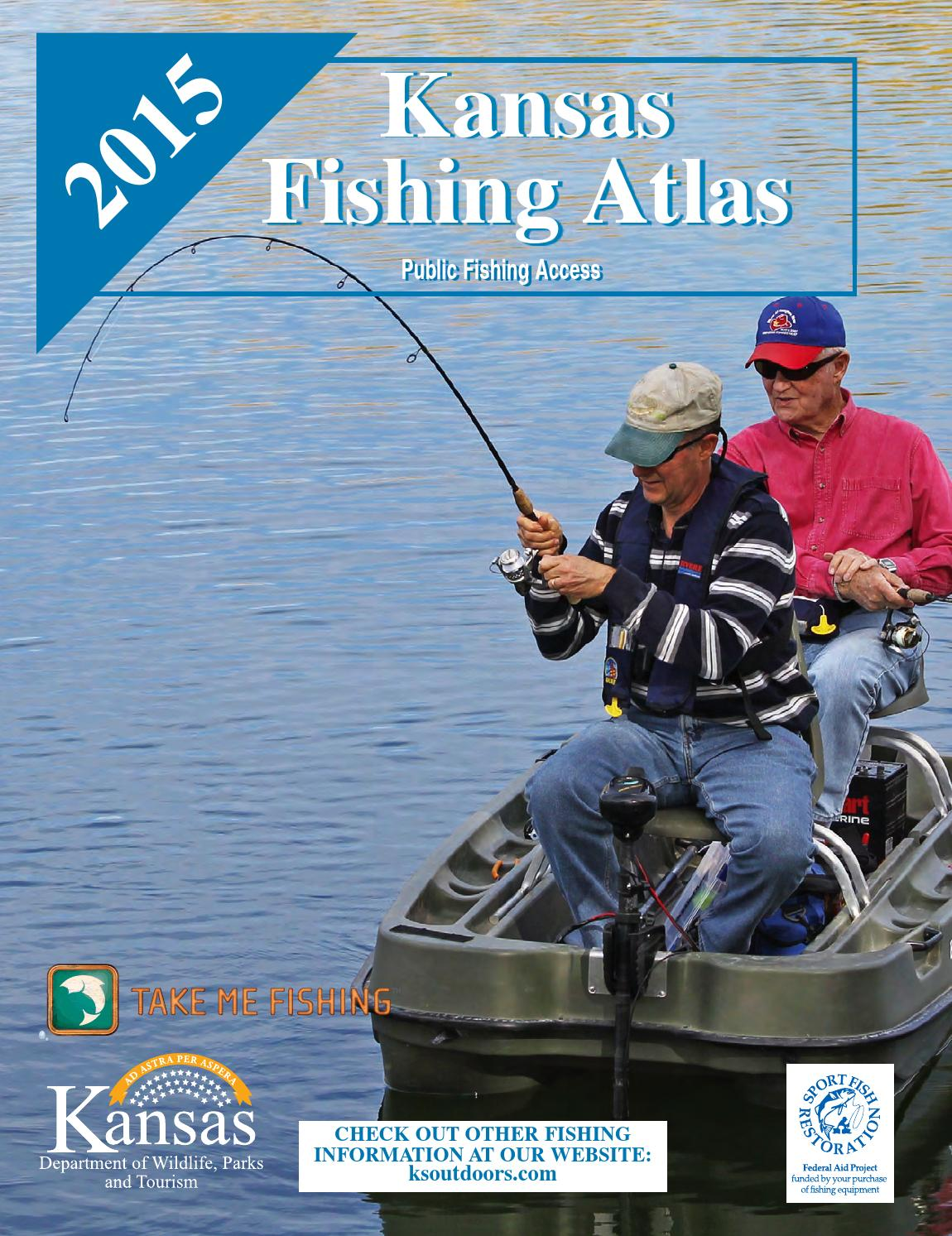 Fish atlas 2015 by kansas department of wildlife parks for Kansas out of state fishing license