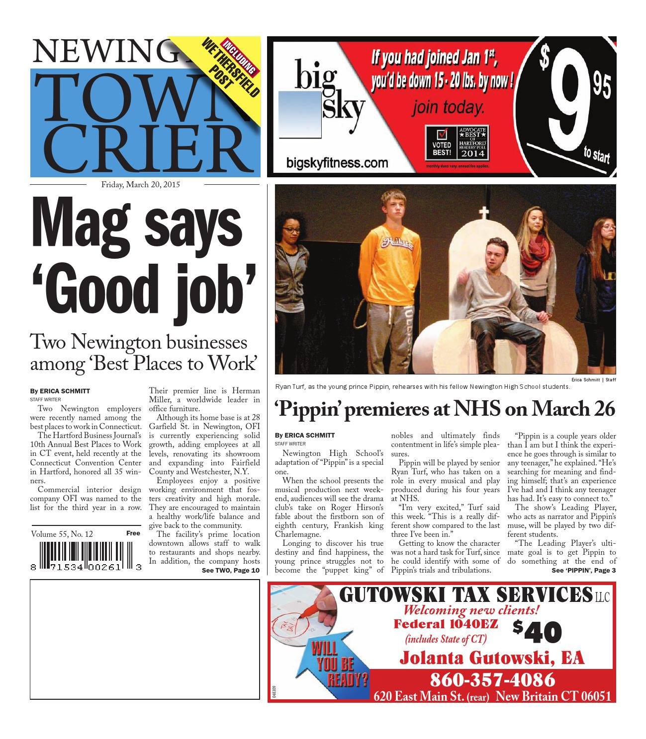 Newington Town Crier 03-20-2015 by Art Department - issuu