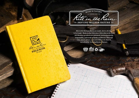 "1637 Rite in Rain Calf Treatment Polydura 8/"" x 11/"" All Weather Writing Paper New"