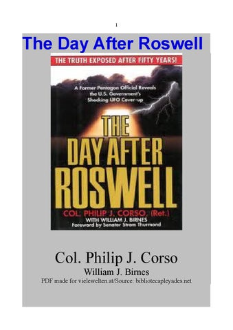 The Day After Roswell By Lt Commander Gregory J Smith Issuu