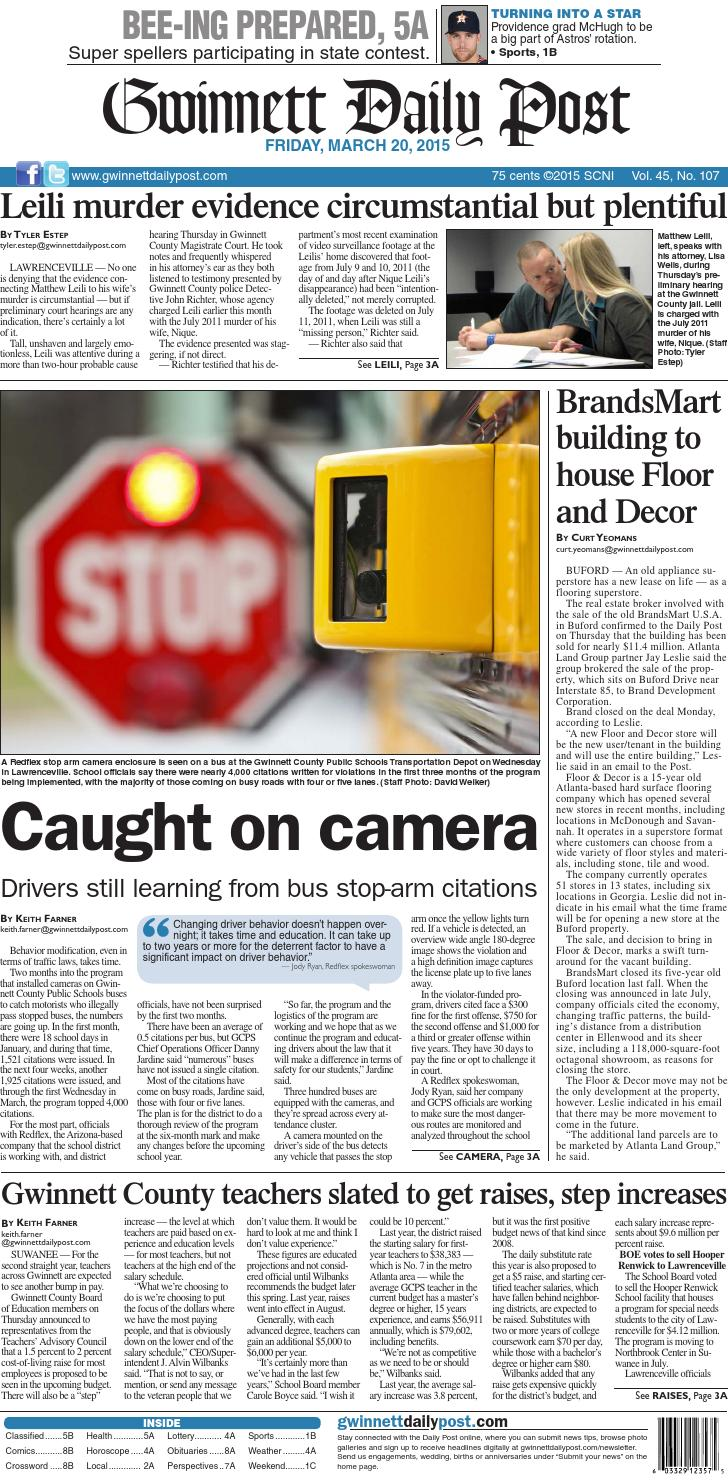 9b2d4596d91 March 20, 2015 — Gwinnett Daily Post by Gwinnett Daily Post - issuu