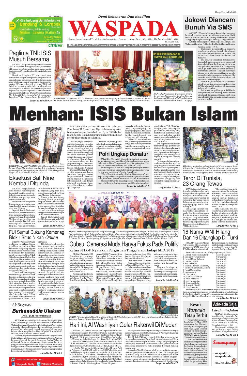 Waspada Jumat 20 Maret 2015 By Harian Issuu Produk Ukm Bumn Madu Super Az Zikra