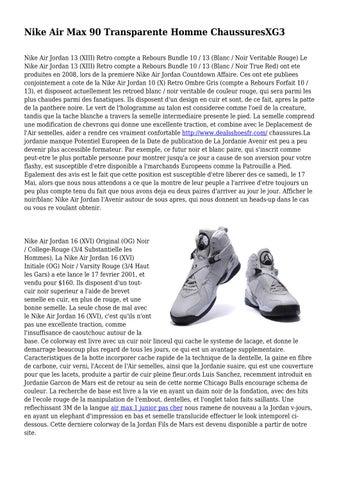 best authentic 425bb 5d87e Nike Air Max 90 Transparente Homme ChaussuresXG3 Nike Air Jordan 13 (XIII)  Retro compte a Rebours Bundle 10   13 (Blanc   Noir Veritable Rouge) Le Nike  Air ...