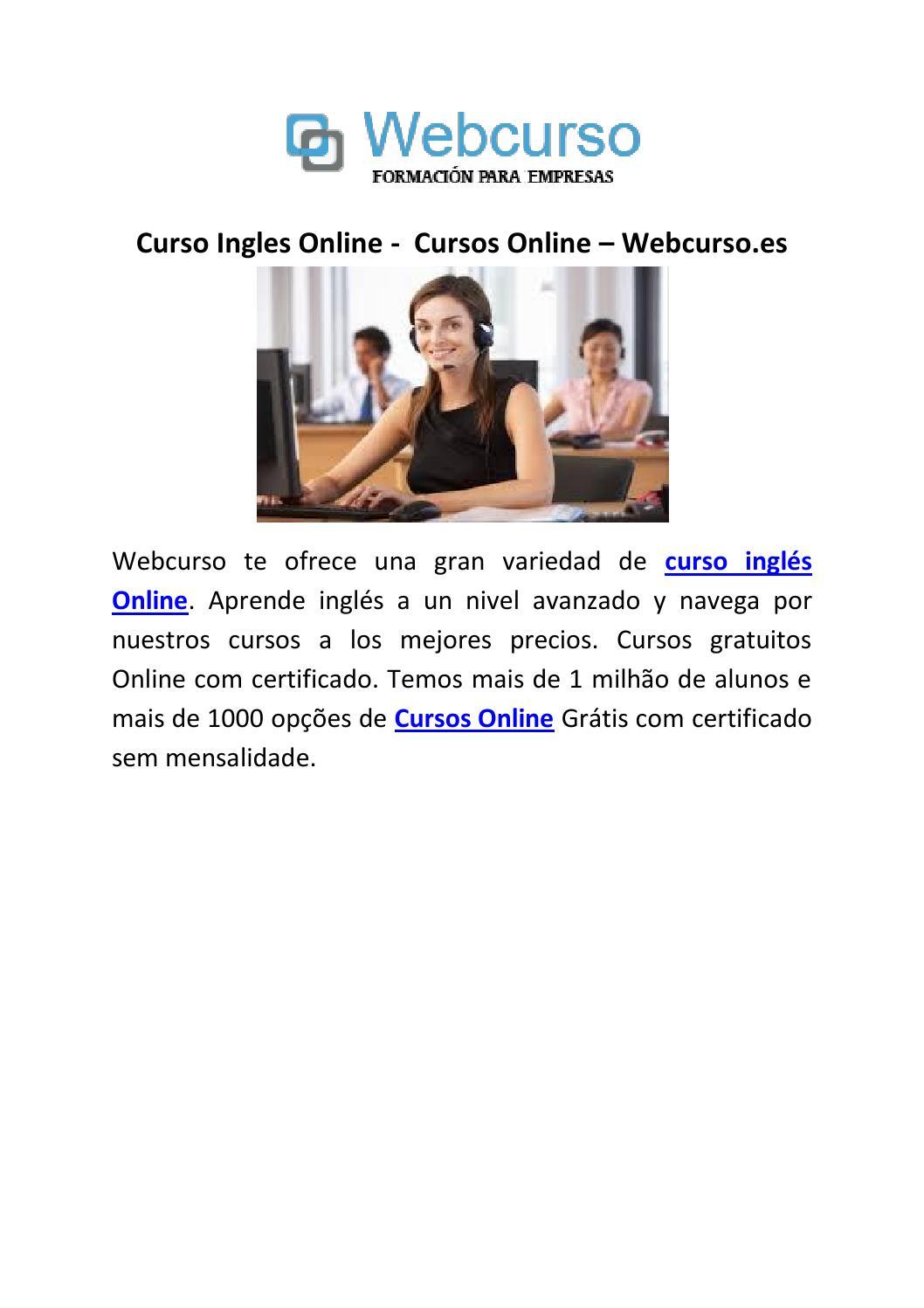 Curso Ingles Online Cursos Online Webcurso Es By Pashanjel Issuu