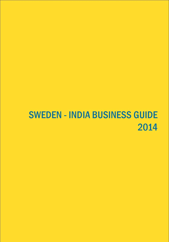 Sweden India Business Guide 2014 By Pradnesh Desai Issuu