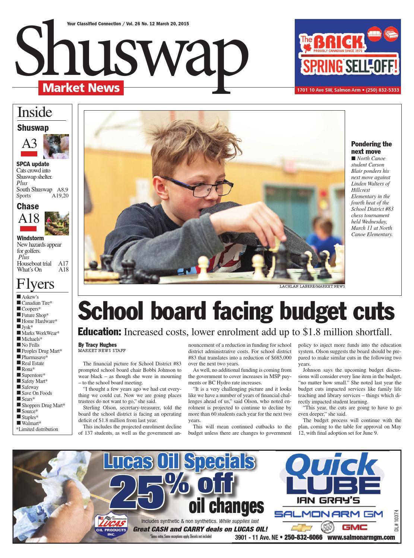 Salmon Arm Observer, March 20, 2015 by Black Press Media