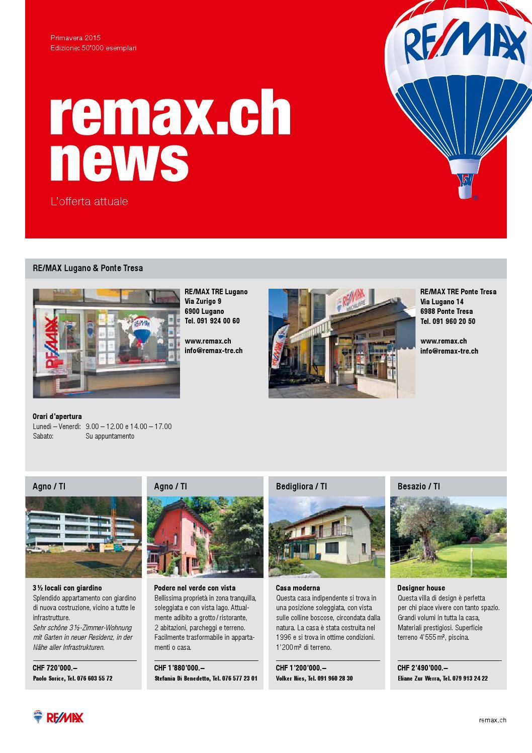 Remax news ticino primavera 2015 by beni stocker issuu for Casa moderna zurigo