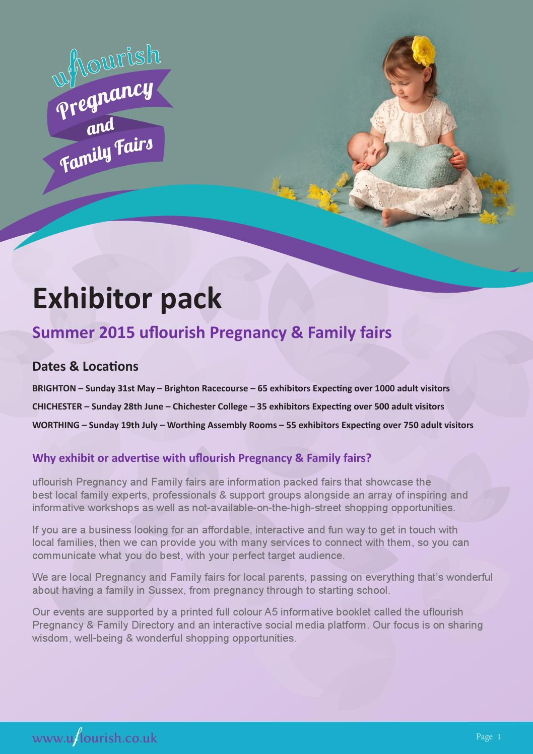 uflourish Pregnancy \u0026 Family Fairs - Exhibitor Information Pack by ...