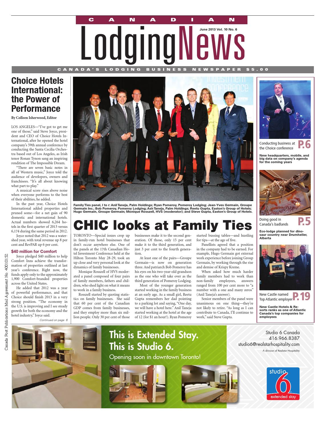 Canadian Lodging News - June 2013 by Ishcom Publications - issuu