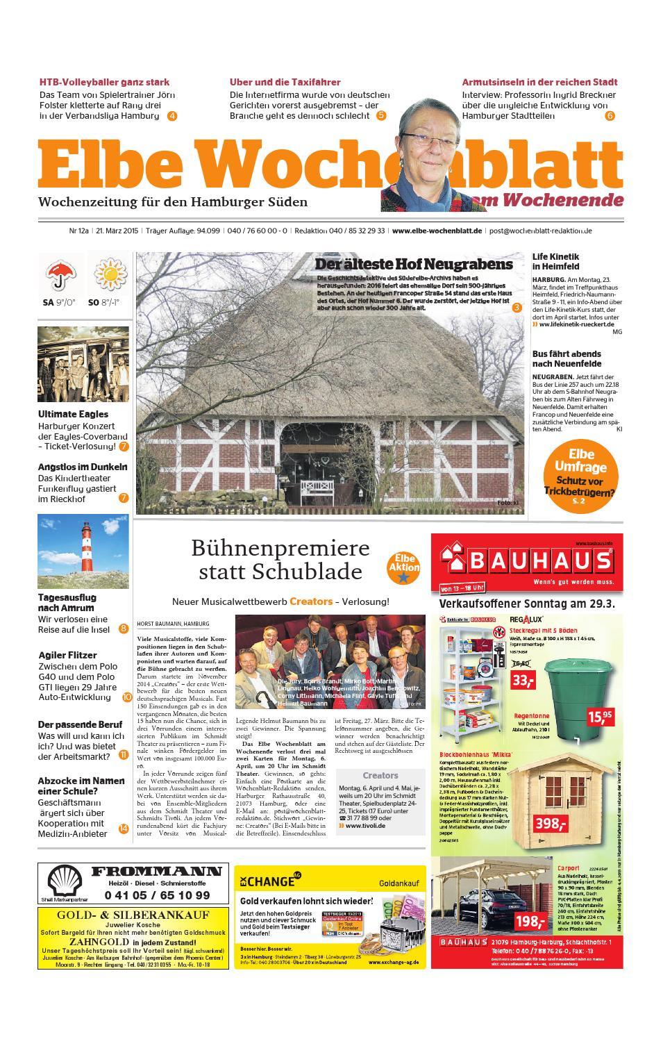 Wochenende KW12-2015 by Elbe Wochenblatt Verlagsgesellschaft mbH & Co.KG -  issuu