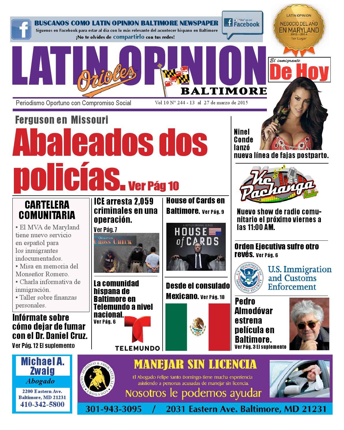 Latin Opinion Baltimore Edición 244 by Augusto Ortiz - issuu
