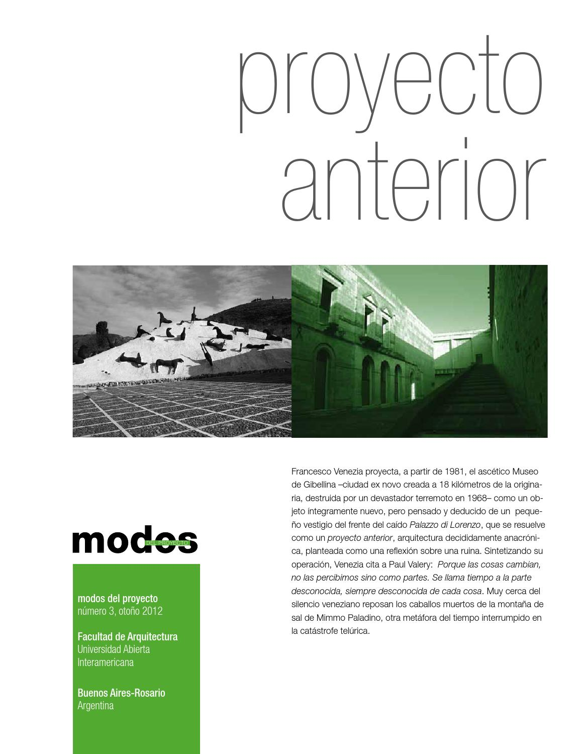 Revista modos nº 3 - proyecto anterior by CAEAU - issuu