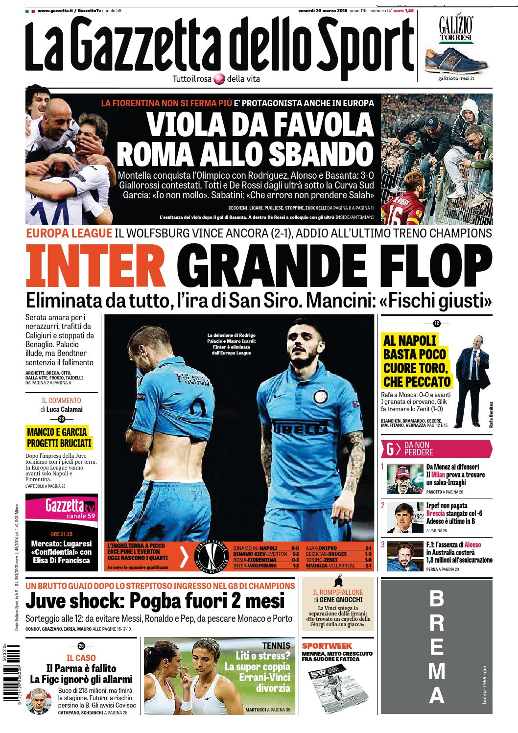 La Gazzetta dello Sport (03-20-2015) by Nguyen Duc Thinh - issuu