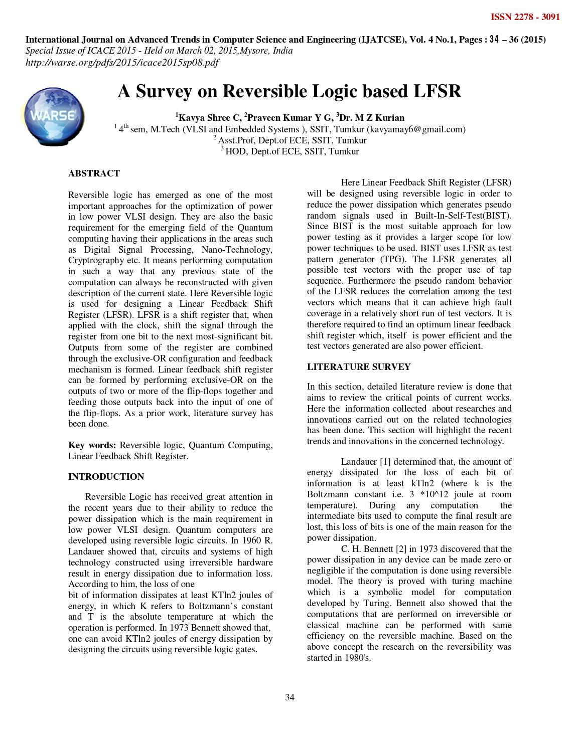 Analysis Of Multiplier Circuit Using Reversible Logic