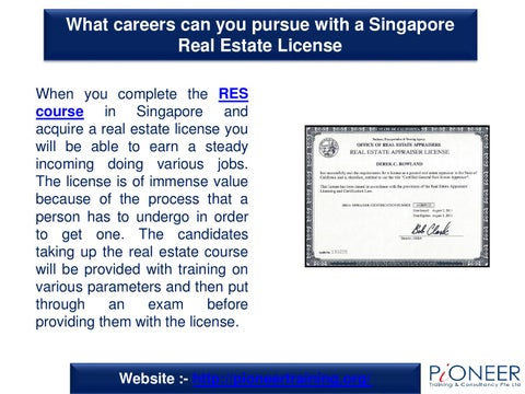 What Careers Can You Pursue With A Singapore Real Estate License By