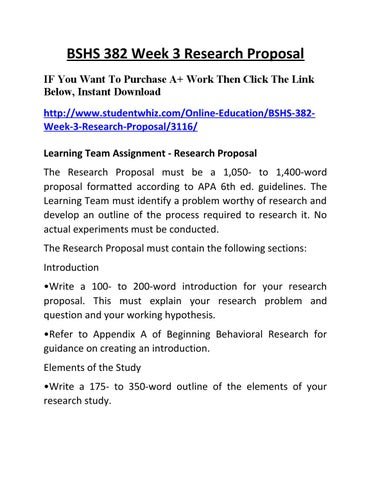 research proposal bshs 382