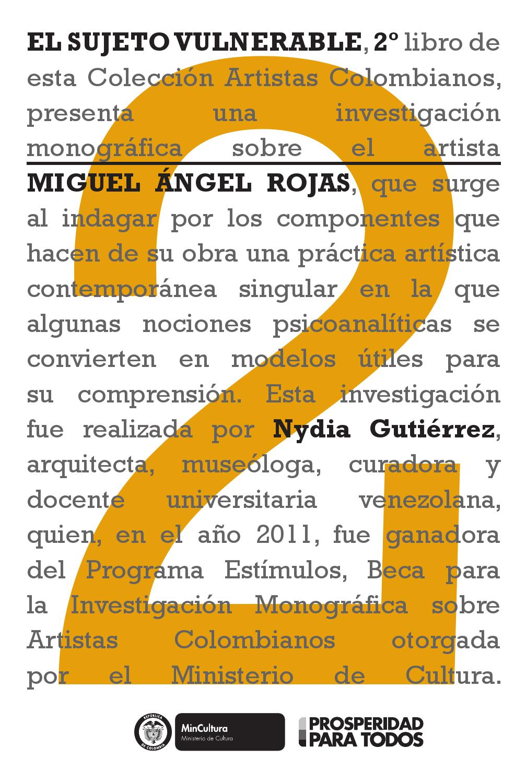 El Sujeto Vulnerable by Artes Visuales Mincultura - issuu