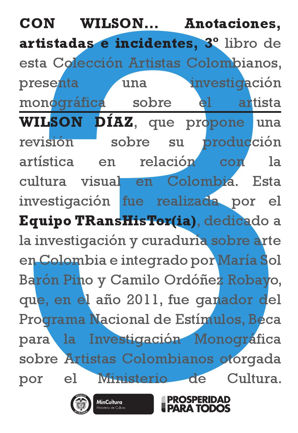 Con Wilson by Artes Visuales Mincultura - issuu
