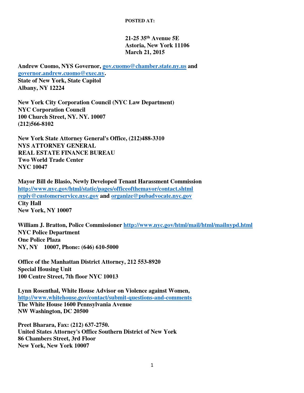 Nycha Retaliation Elder Abuse And Harassment March 2015
