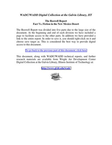 Part 5 of 5) The 1994 USAF Roswell Report- Fact vs  Fiction