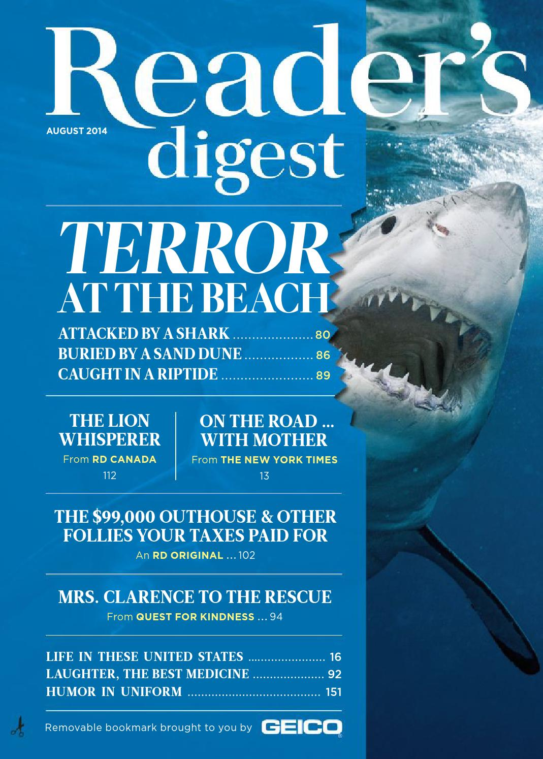 Reader S Question Can I Transfer Miles From One Airline: Reader's Digest August 2014 By Nova May Solite