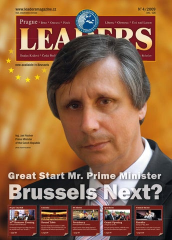 Prague Leaders Magazine Issue 04 2009 by Czech   Slovak Leaders - issuu 4c84d1f0c1
