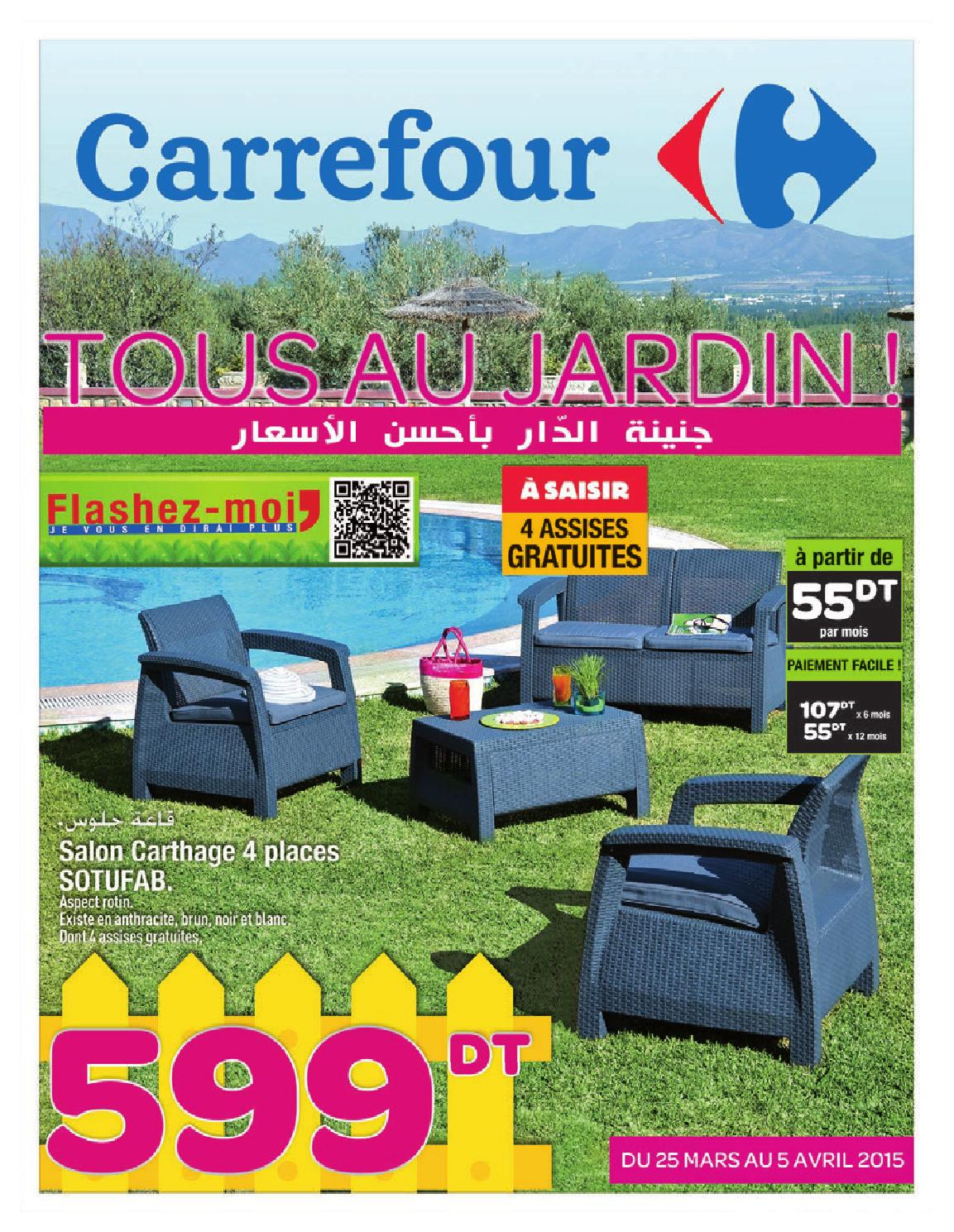 Catalogue carrefour tous au jardin by carrefour for Salon 9 places tunisie