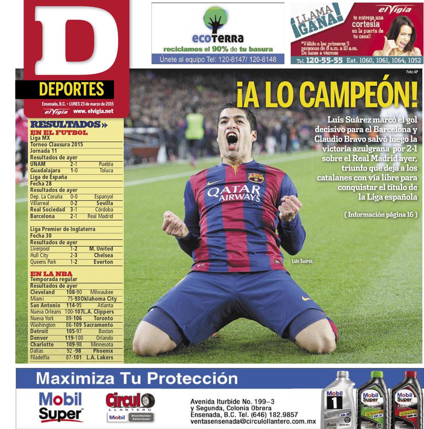 23 03 2015 deportes by Editorial El Vigia - issuu 7606d86d977cc
