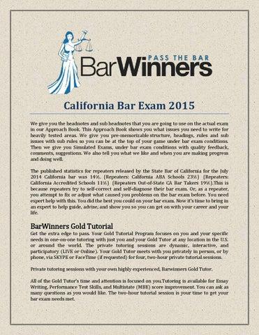 California bar exam 2015 by Barwinners - issuu