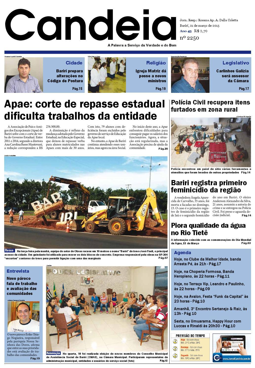 473bca64044a4 Jornal candeia 21 03 2015 by Jornal Candeia - issuu