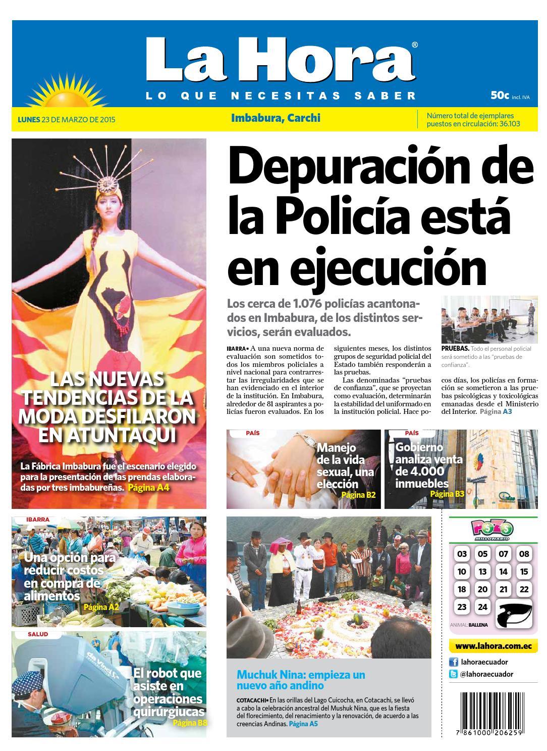 Imbabura 23 marzo 2015 by Diario La Hora Ecuador - issuu