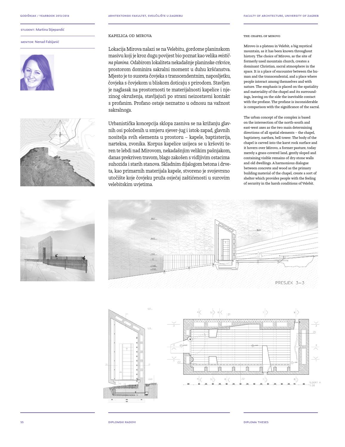 Faculty Of Architecture Zagreb Yearbook 2013 14 By Faculty Of