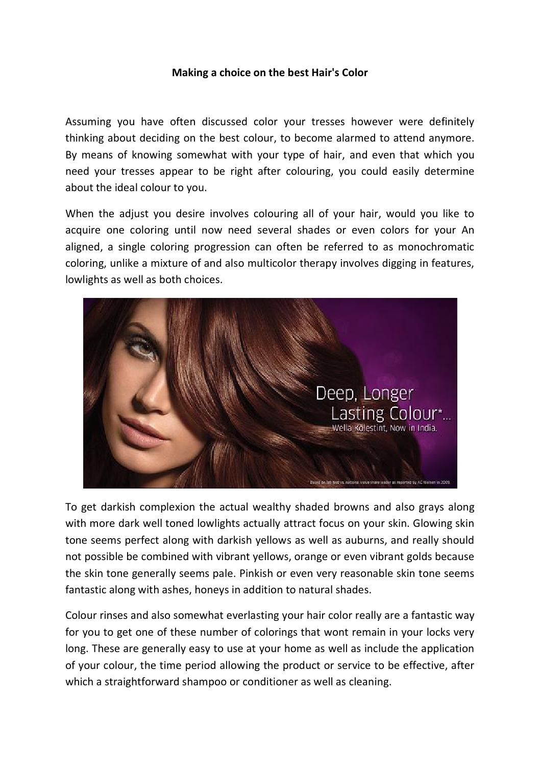 Making A Choice On The Best Hair By Carl Lollis Issuu