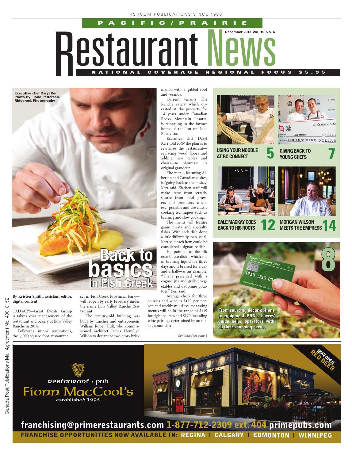 Pacific/Prairie Restaurant News - December 2013 by Ishcom ...