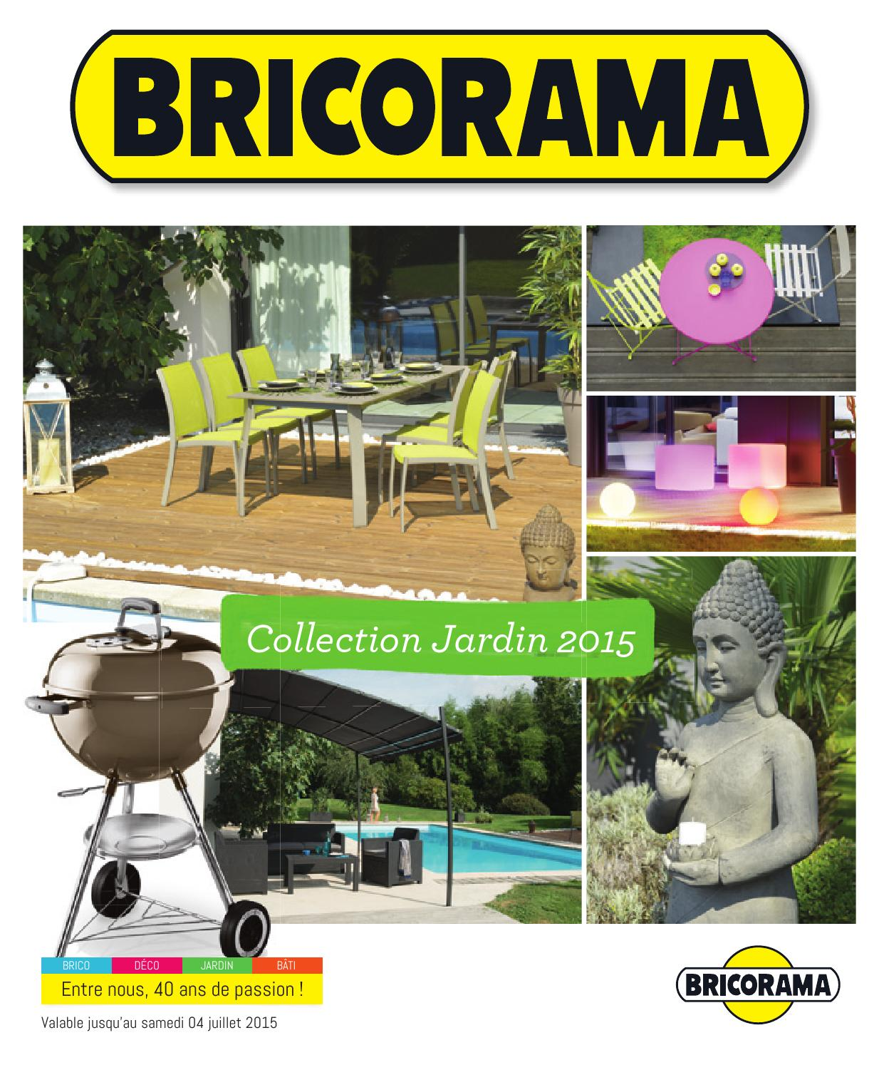 Bricorama catalogue 23mars 4juillet2015 by promocatalogues for Brico bati jardin