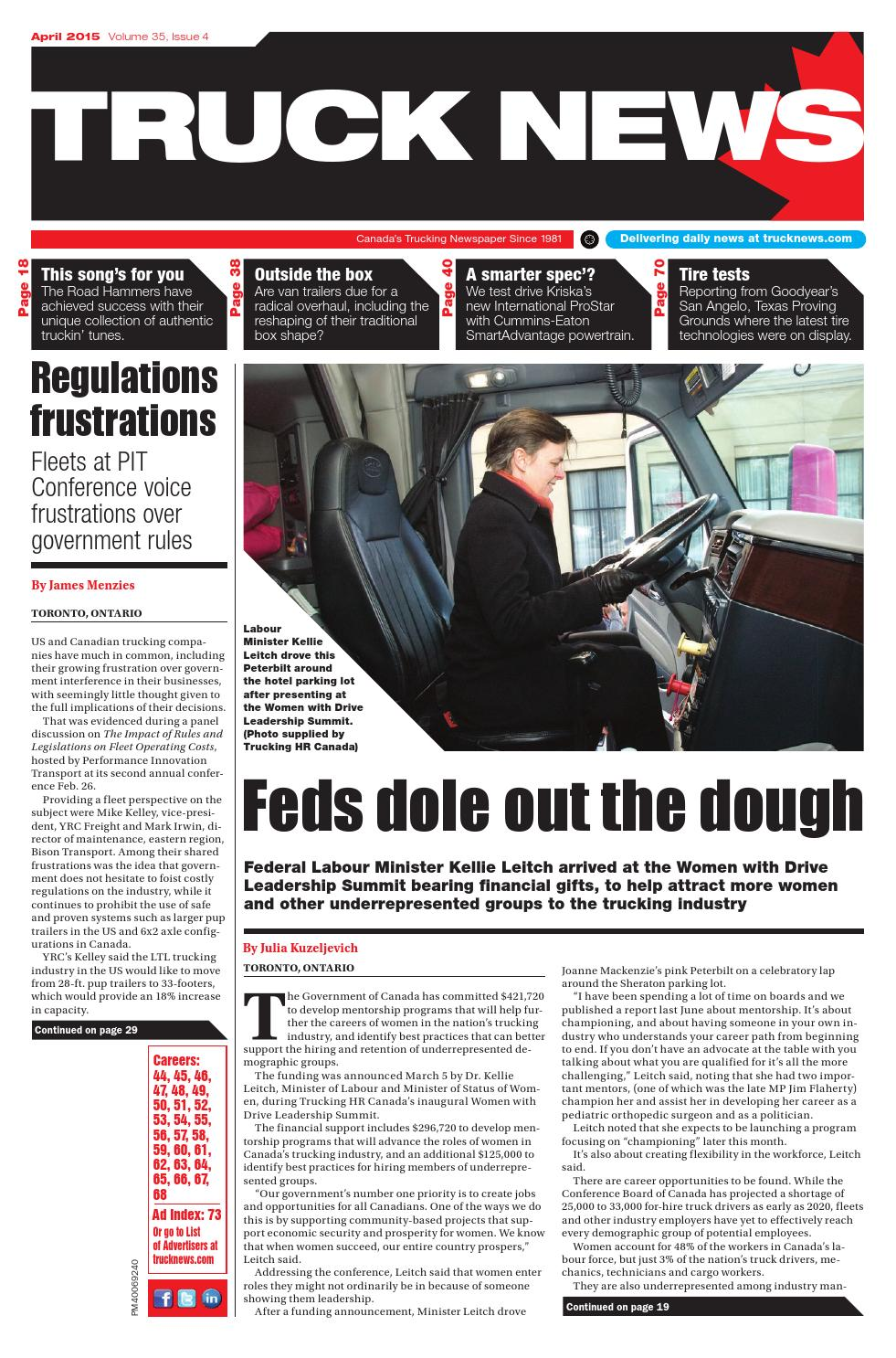 Truck News April 2015 by Annex Business Media - issuu