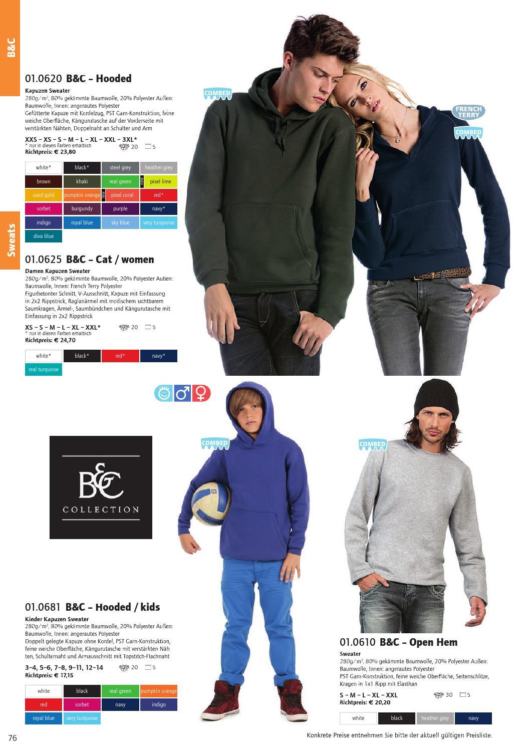 B/&C FLEECEJACKE Micro Fleece Jacke Full Zip DAMEN XS S M L XL XXL 3XL NEU