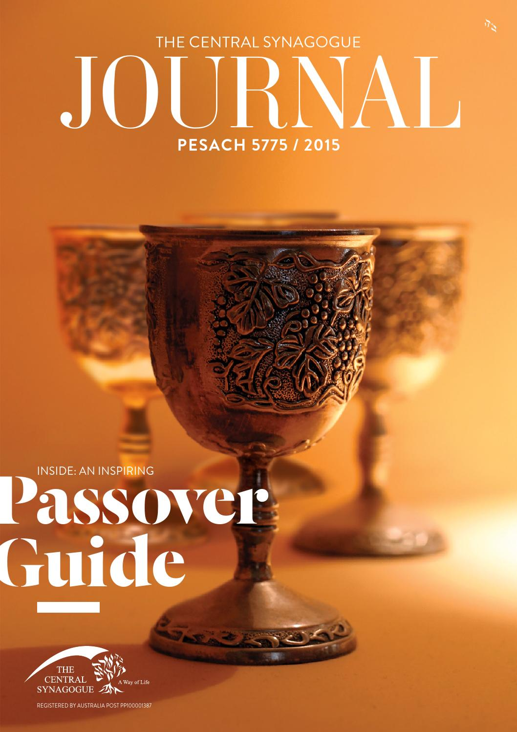 Central Synagogue Passover Journal 5775 By Spotlight Design Issuu