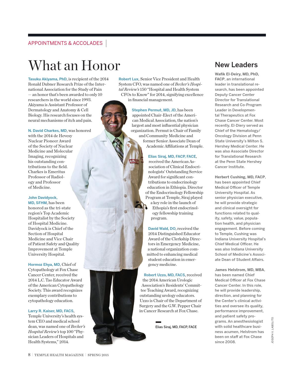 Temple Health - Temple Health Magazine - Spring 2015 by