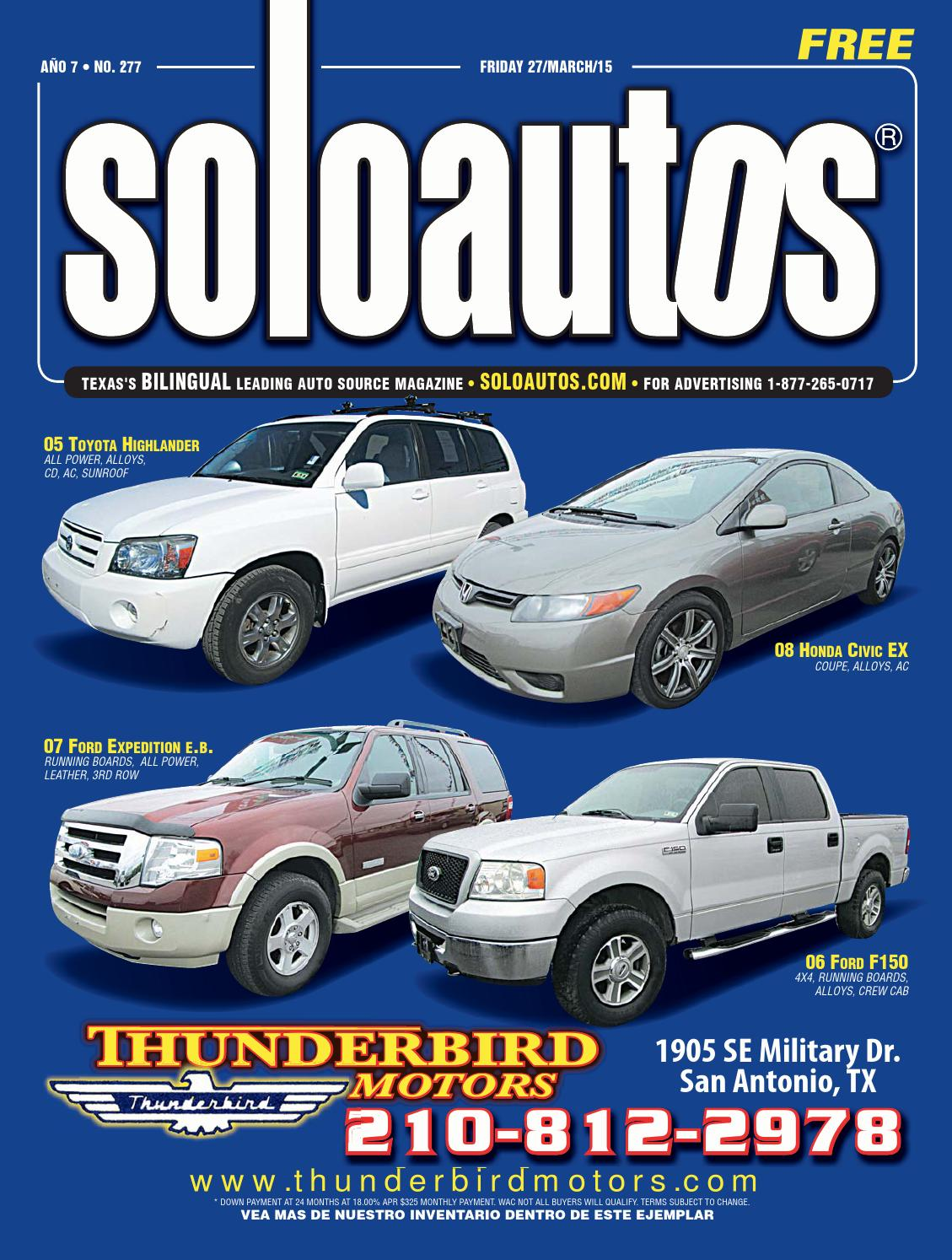 Solo autos san antonio by digital publisher issuu for Dale s motor co san antonio tx