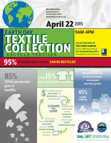NSCC Earth Day Textile Recycling flyer by North Shore Community