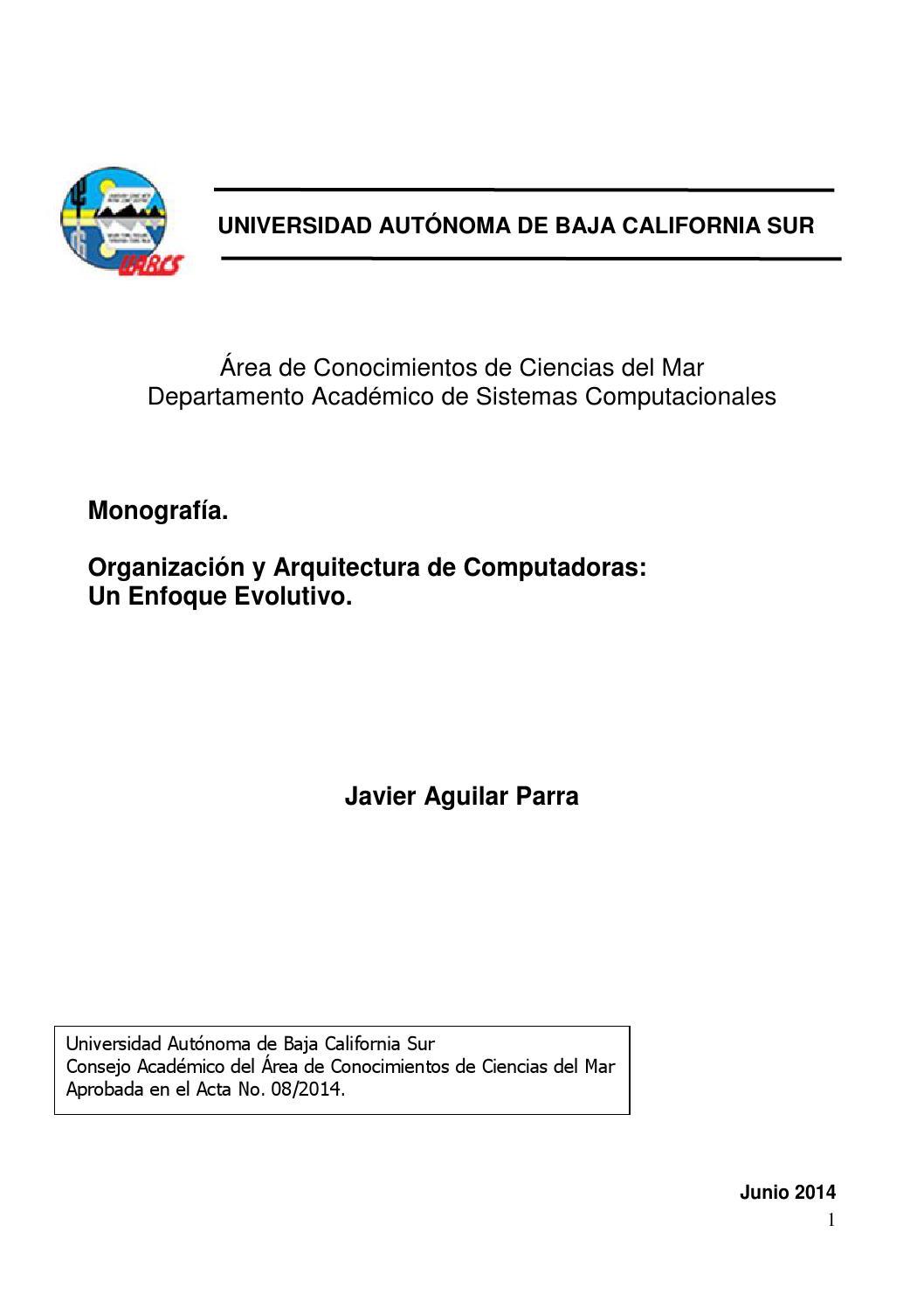 Monografia organizaci n y arquitectura de computadoras by for Fisica con ordenador
